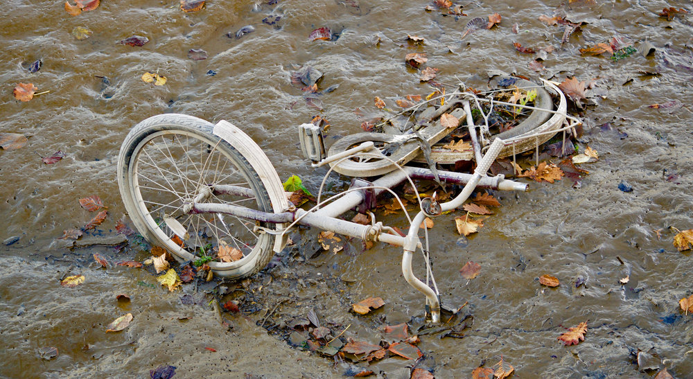Bicycle in mud