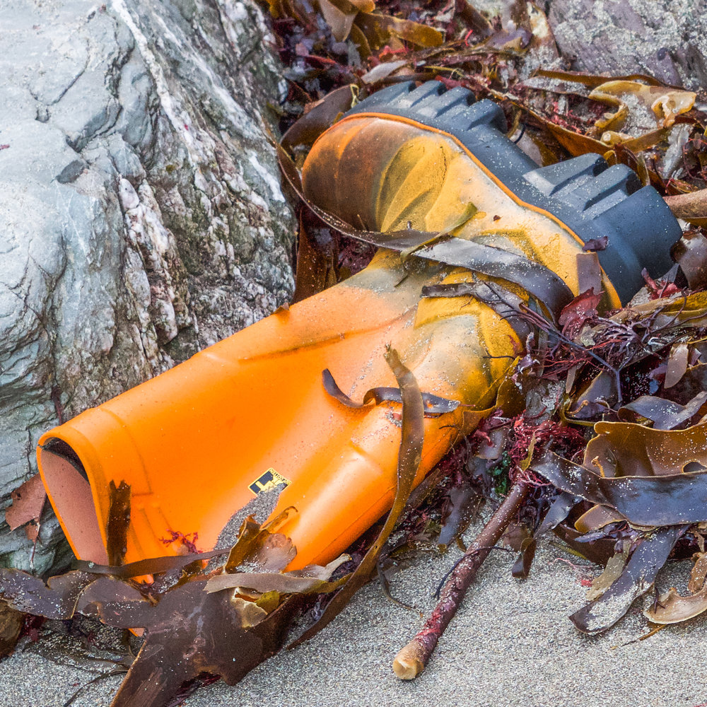 Orange boot
