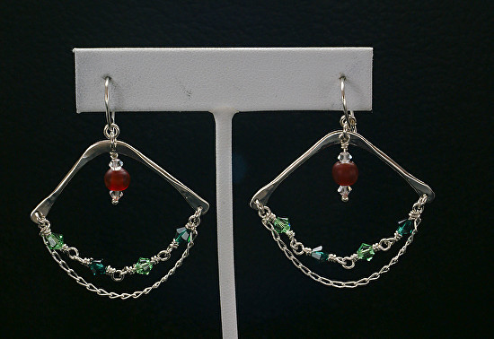 Silver Swarovski Dangle Earrings