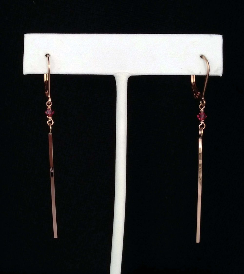 Gold Filled Bar Earrings