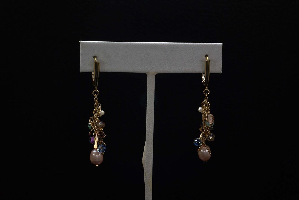 Gold Filled Beads Earrings