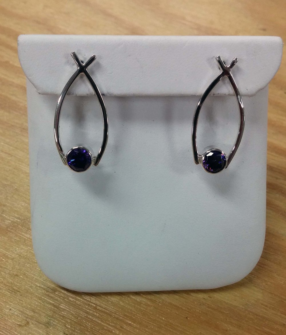 Sapphire Fish Earrings