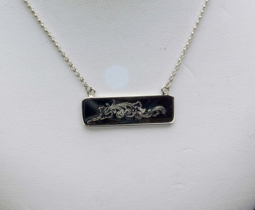 Engraved Bar Pendant