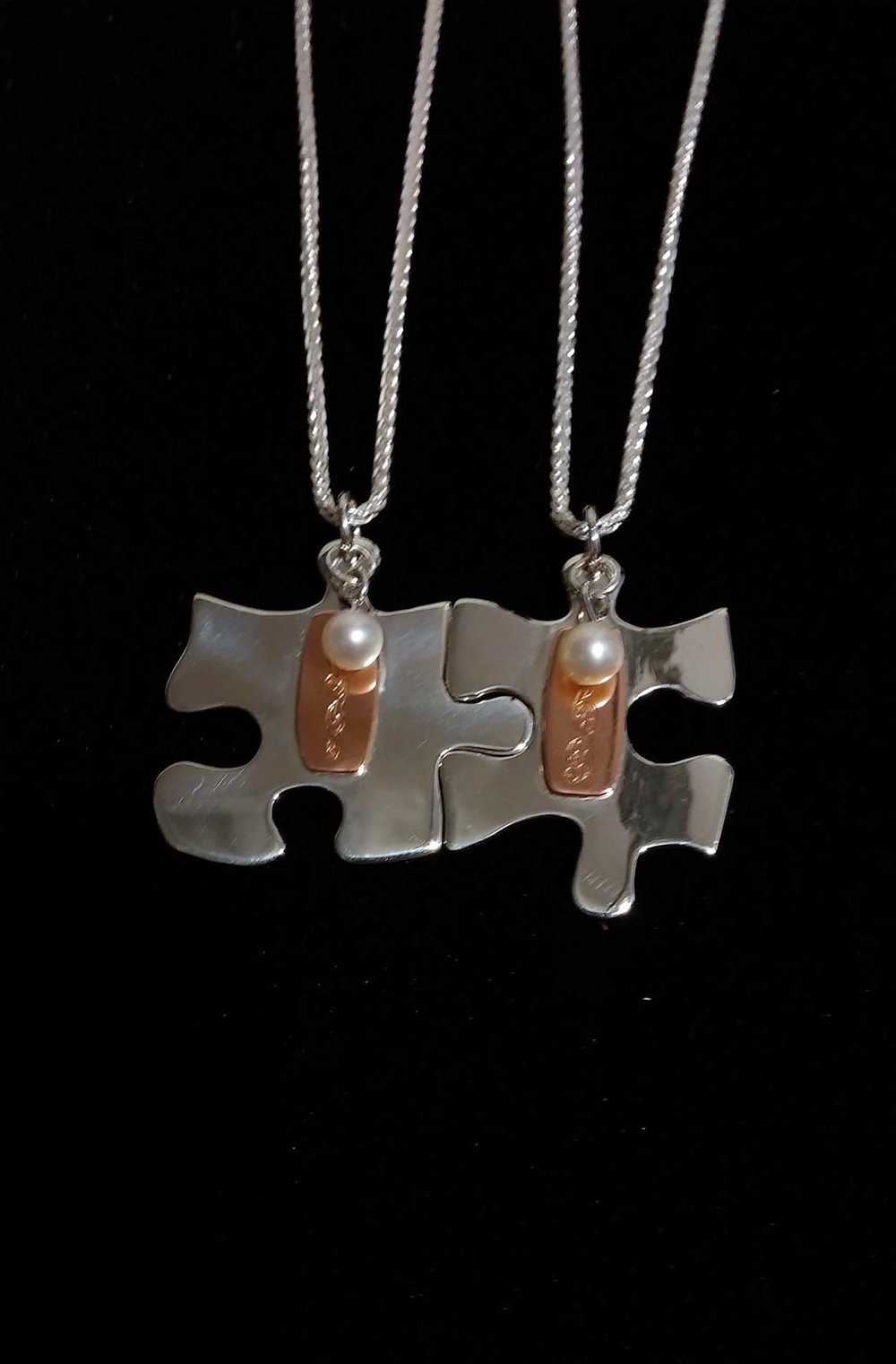 Puzzle Piece Pendants