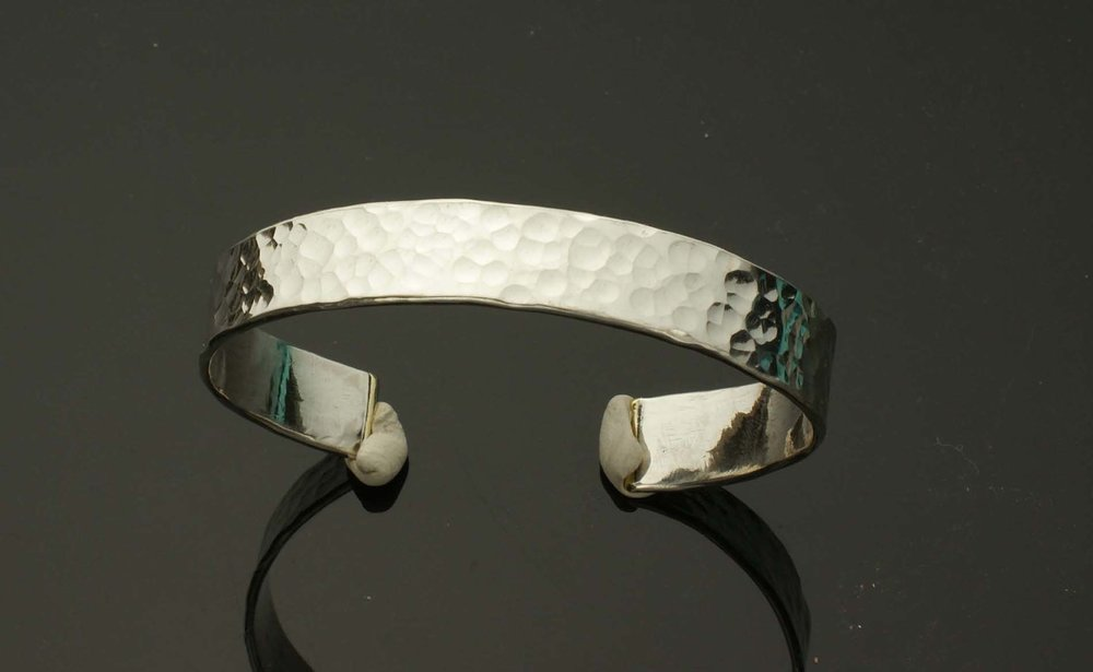 Distressed Silver Cuff