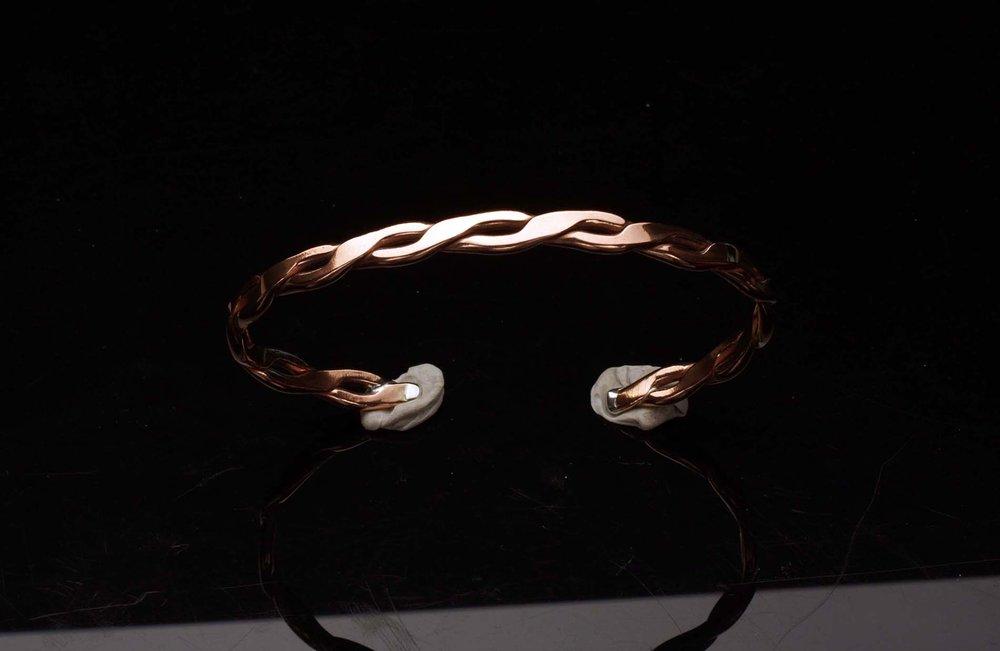 Silver Copper Weave