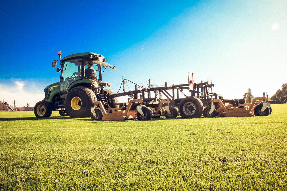 Mähen & Wässern - Gemäht wird, wenn die Schnitthöhe um ca. 3 bis max. 4 cm überschritten wird. Mähen Sie Ihren Rasen auf einer Höhe von ca. 4 - 5 cm. Wenn Sie kürzer mähen kann es zur Verbrennung bei höheren Temperaturen kommen.Damit der Rasen schön und dicht bleibt, wird er während der Vegetationszeit (März bis Oktober) ca. 1x pro Woche gemäht. Je nach Witterung kann auch im Winter das Rasenmähen erforderlich sein.Um Winterschäden vorzubeugen, sollten Sie beim letzten Schnitt vor dem Winter unbedingt Mähgut und Laub vom Rasen entfernen.Bestehende Rasenflächen sollten bei starker Trockenheit 1-2 Mal pro Woche wurzeltief beregnet werden (ca. 10-15l/m²). Dies sollte frühmorgens oder abends erfolgen, um die Verdunstungsrate gering zu halten.