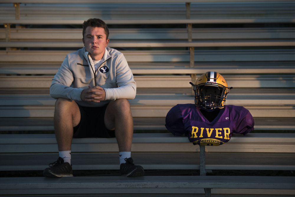 Nathan Kunz had received a scholarship to play college football at NAIA Montana Tech after a standout career at Columbia River High School in Clark County, Wash., but after suffering his third concussion in March, Kunz decided the 2018 Freedom Bowl Classic will be his last competitive game.  Citing recent high profile stories like that of Washington State University backup quarterback Tyler Hilinski, who had suffered Chronic Traumatic Encephalopathy (CTE) before his suicide, Kunz said it's time for him to move on with his life. Kunz will attend Brigham Young University in the fall and hopes to study radiology.
