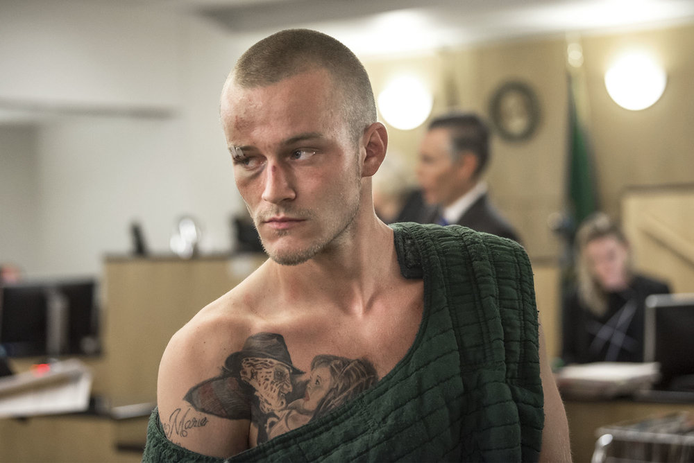 Devin D. Schultz-Morrison, 23, appears on suspicion of second-degree murder in Clark County Superior Court on Friday morning, July 27, 2018. Schultz-Morrison is accused in the shooting death of Vincent R. Trevino, 23, whose body was found on a sidewalk in the Image neighborhood in December 2017.