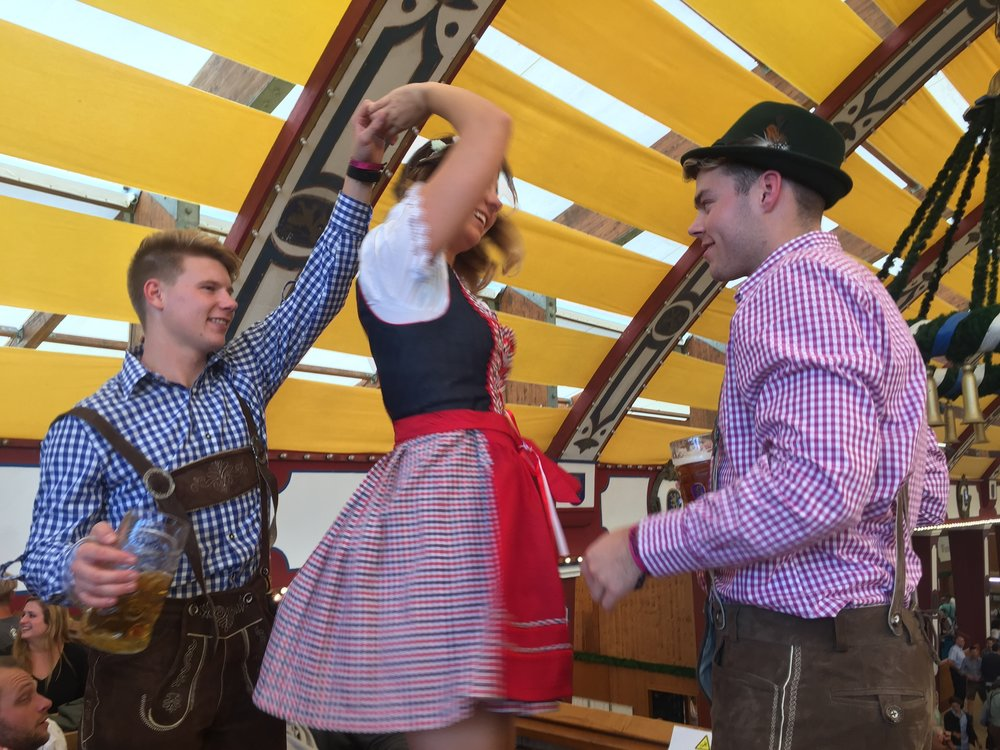 Dance the days away at Oktoberfest with all your new friends. (Photo of Lauren K.)