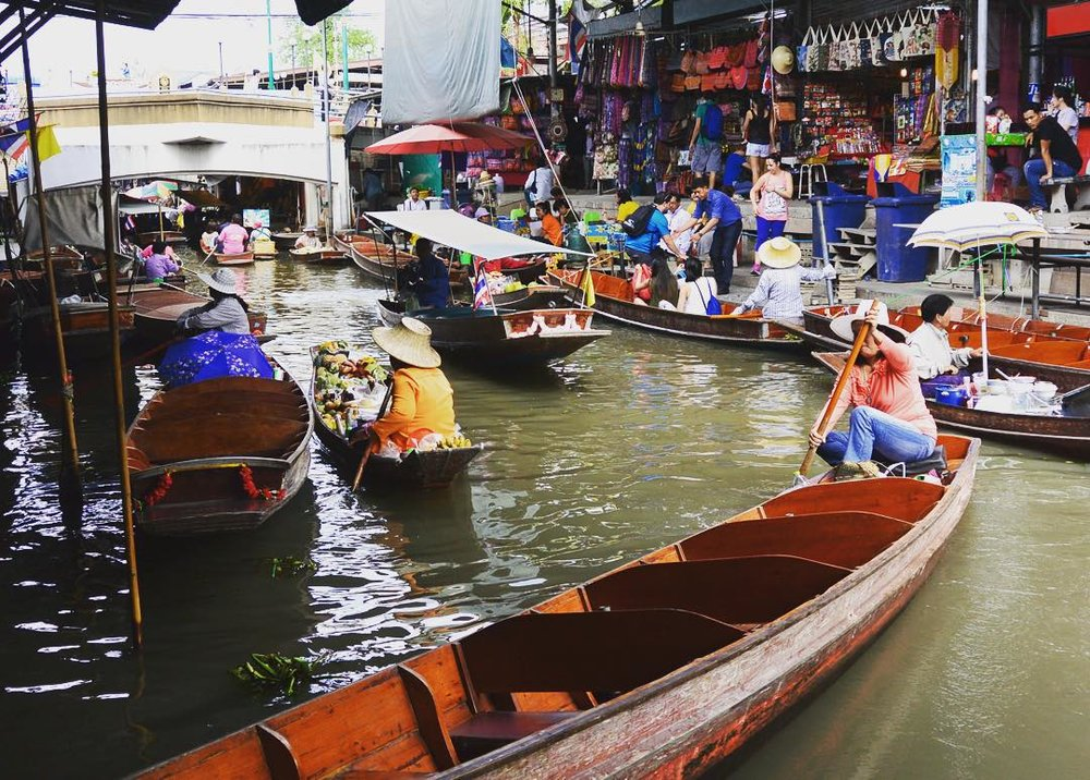 Photo by Krystal L. in the Damnoen Saduak Floating Market in Thailand