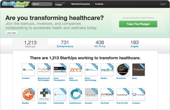 Launch of StartUp Health Network to Organize