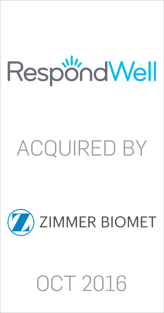 RespondWell acquired by Zimmer Biomet