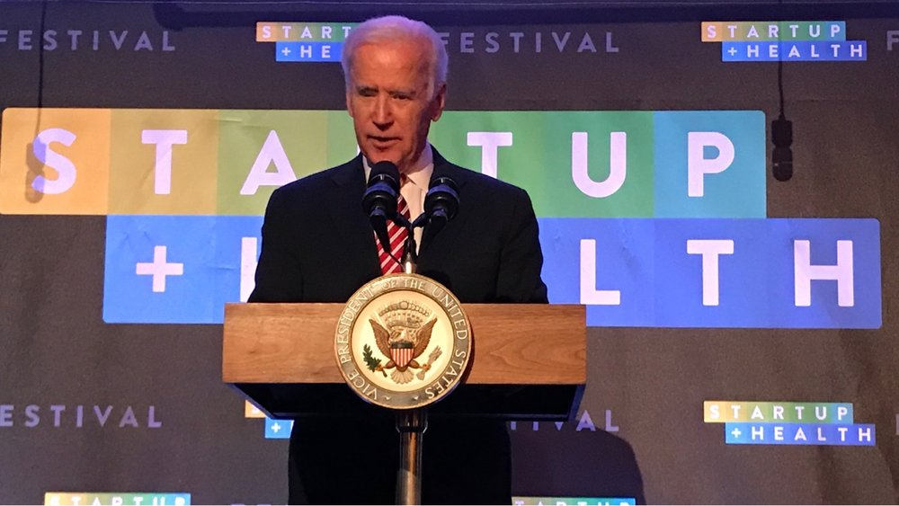 Welcoming Vice President Joe Biden as Keynote at the StartUp Health Festival - Dec. 6, 2017
