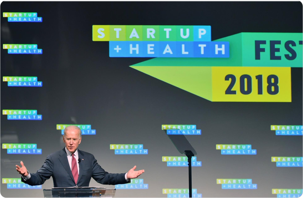 Vice President Joe Biden Brings Words of Hope and Wisdom to the StartUp Health Festival - January 2018