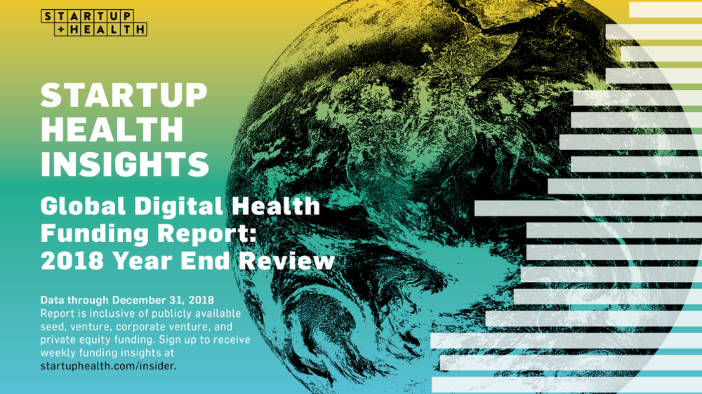 StartUp Health Insights Global Digital Health Funding Report: 2018 Year End Review