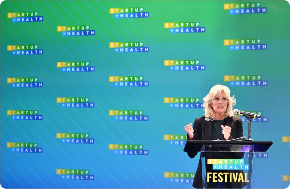 Dr. Jill Biden's StartUp Festival Keynote Shares a Powerful Message on What's Next for the Cancer Moonshot - January 2019