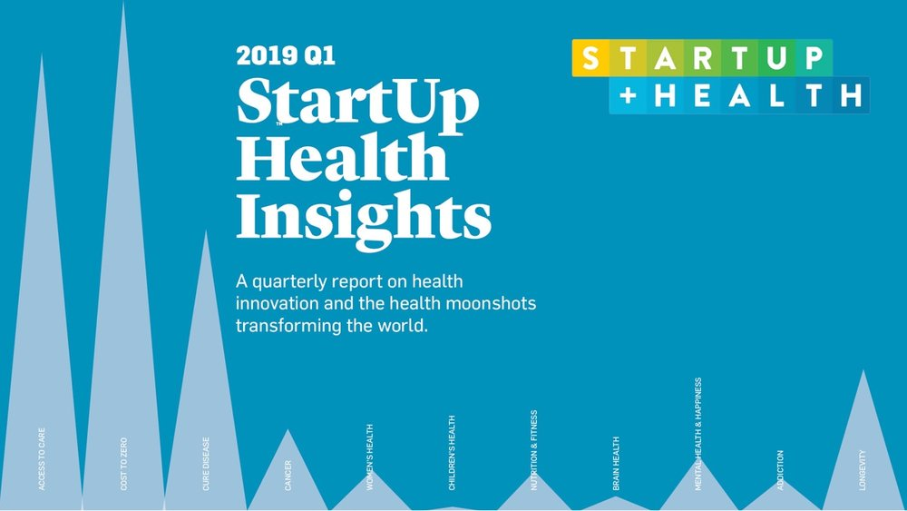 By the Numbers: StartUp Health Unveils New Health Innovation Funding Report for 2019 Q1 - Apr. 3, 2019