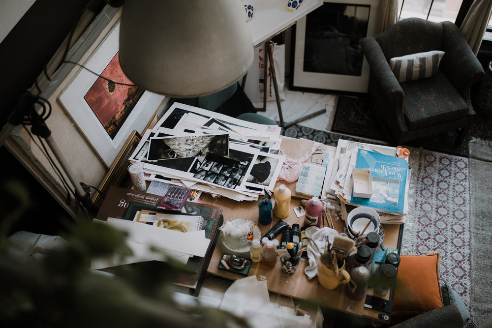 one of the many work tables we found inspiration from.