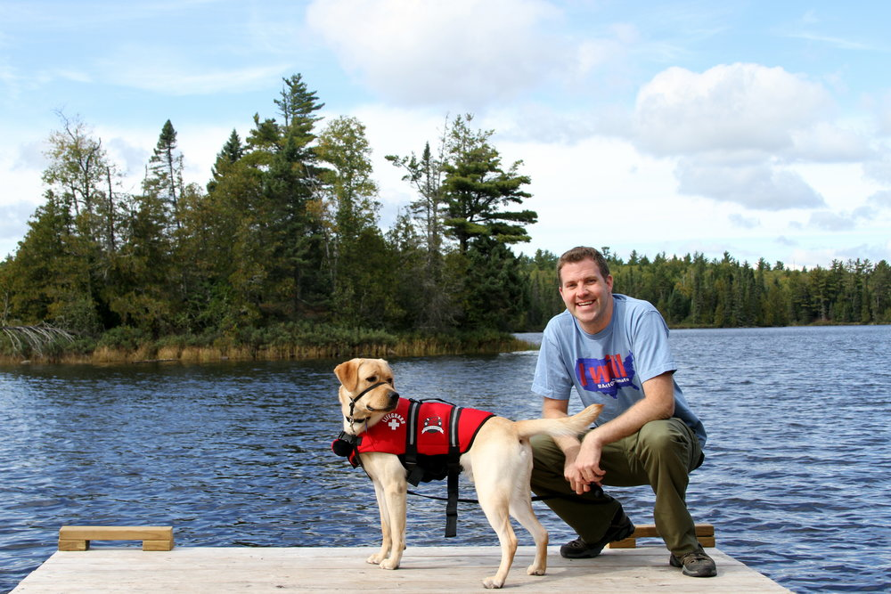 Boundary Waters Wilderness Trip with Clyde, our Yellow Lab
