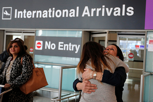 The order's implementation was a mess, leading to the detention of over 100 people at U.S. airports. Image source: REUTERS/Brian Snyder