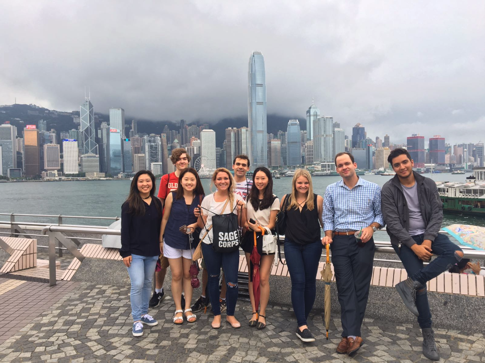 Alex and members of her cohort in Hong Kong, China.