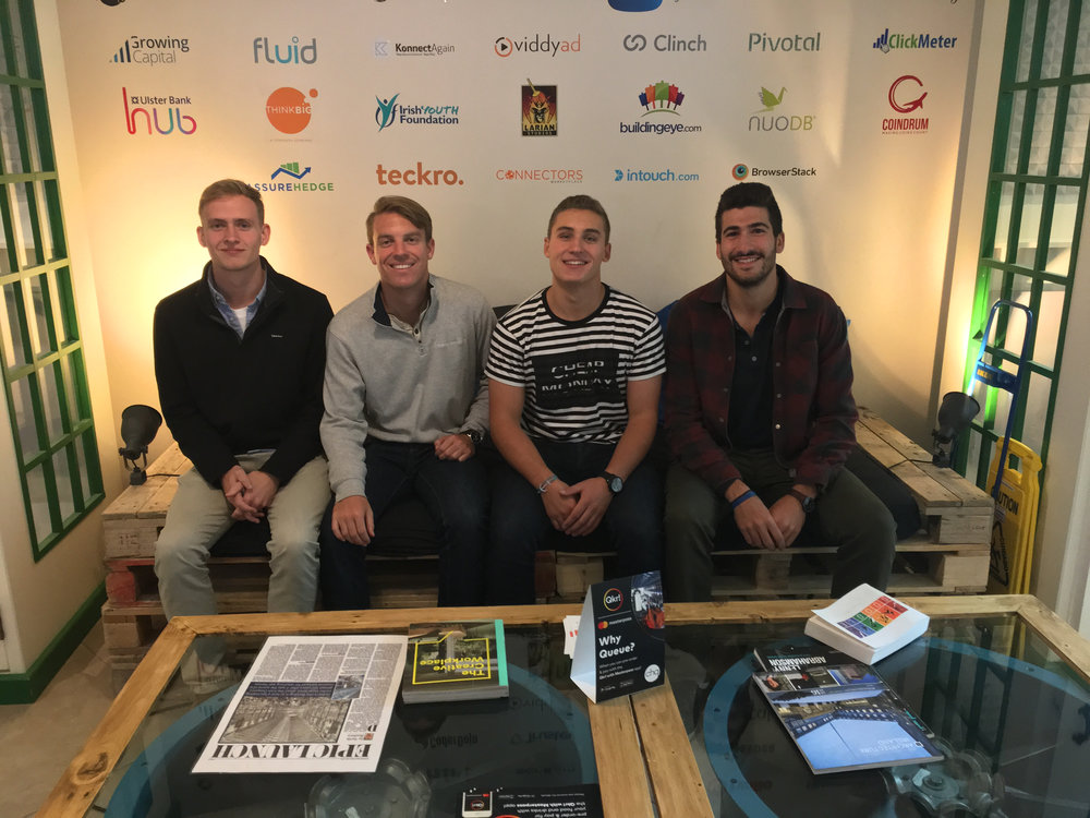 Our four fall fellows visiting Dogpatch Labs, a Dublin coworking space.