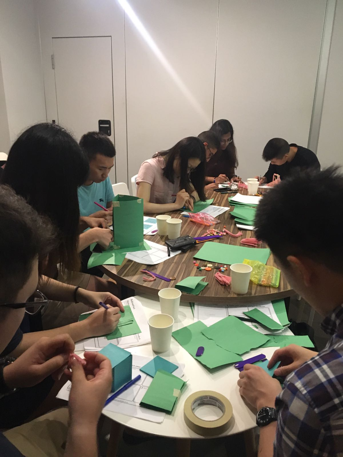 Shirley and the Singapore cohort working hard at Sage Corps Orientation.