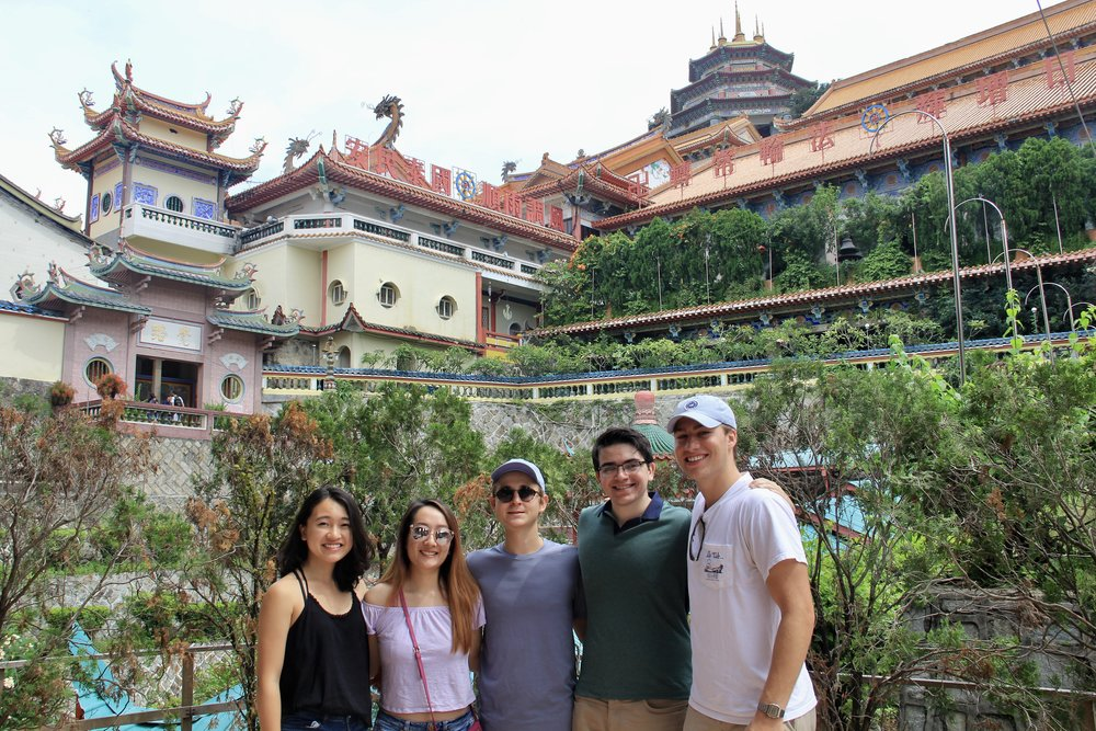 Emily (second from left) and her cohort friends in Penang, Malaysia.