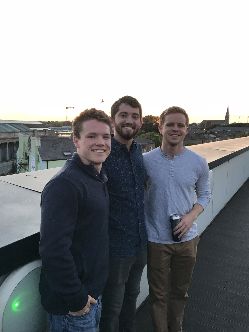 Jacob (left) with Sage Corps fellows Ethan and Connor.