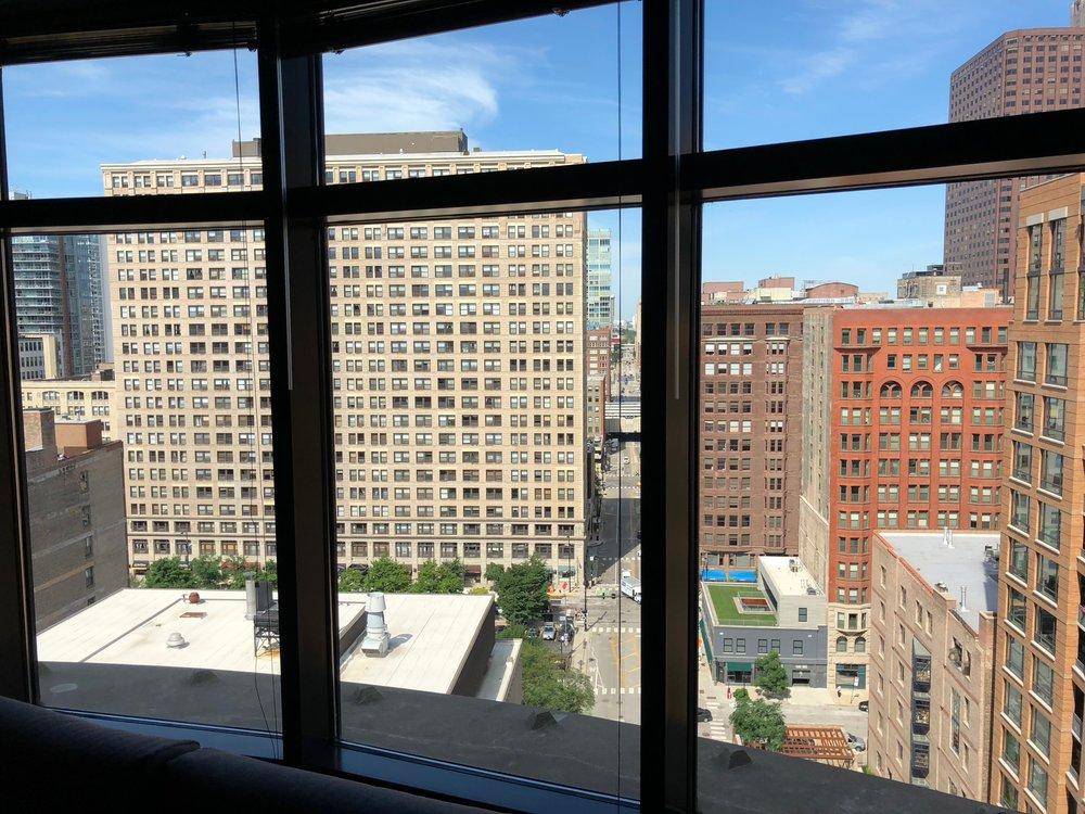 View from Harsana's apartment.
