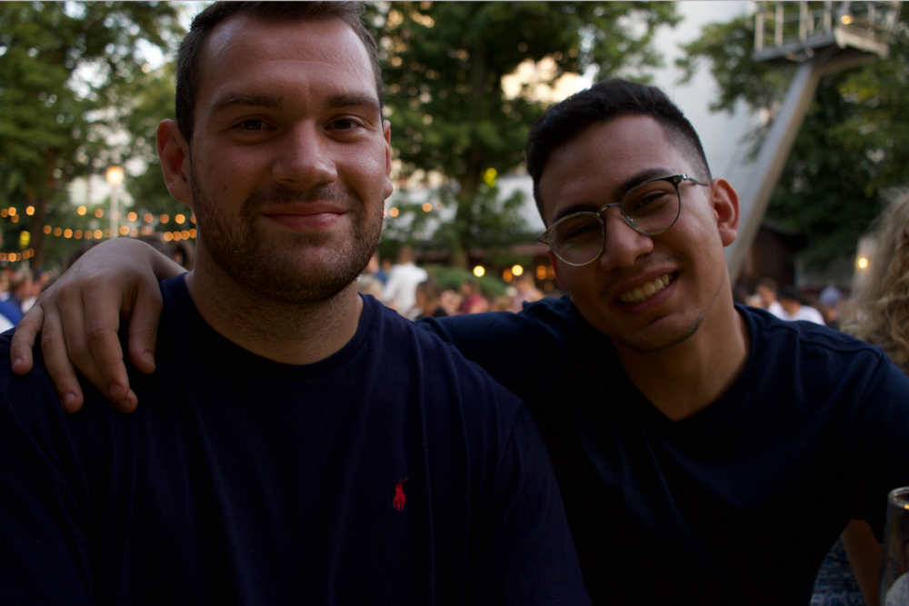 Ahmed (right) with Berlin fellow, Christopher.