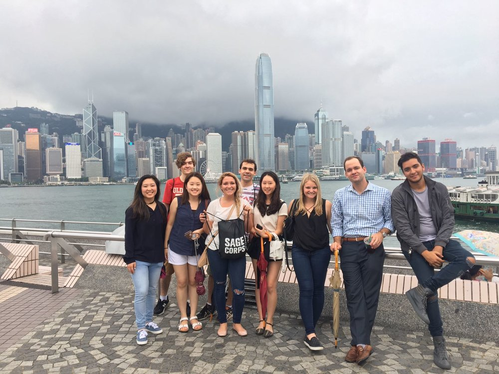 Alexis (third from right) and the Summer 2017 Hong Kong cohort.