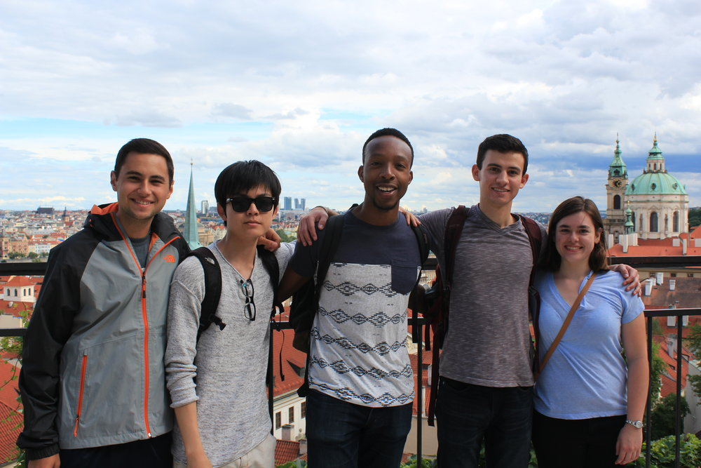 Michael (middle) with other Berlin 2017 fellows.