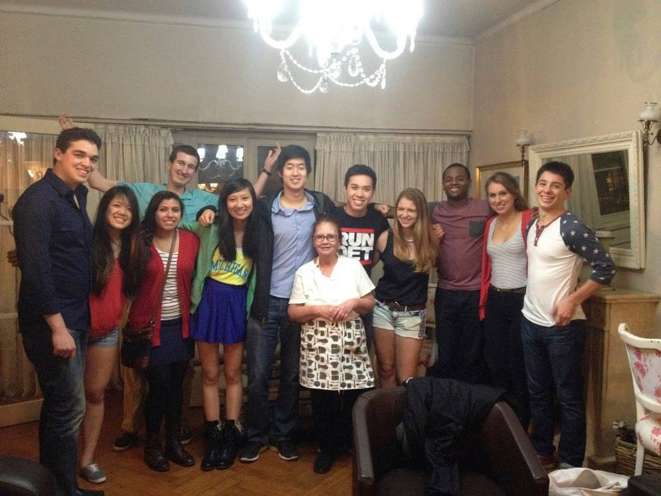 Summer 2014 cohort and house mother.
