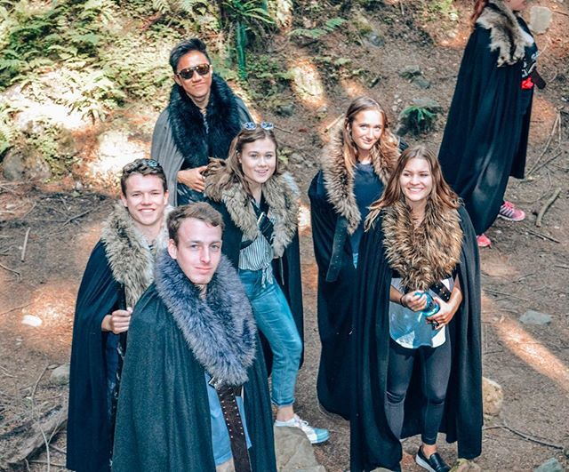 We bet your cohort didn't get to visit actual Game of Thrones filming locations...AND wear Winterfell robes #irishswagonly #sagecorps2018 #scdublin18 #redfoxes #winteriscoming •• 📸: @tatumpughtg
