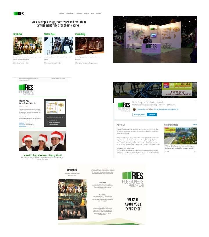 Ride Engineers Switzerland WillTEC GMbH - Ride Engineers Switzerland ist ein junges, frisches Unternehmen, gegründet von einem Industrieveteranen und seinem künftigen Nachfolger. Die beiden entwickeln, designen und bauen Fahrgeschäfte mit Leidenschaft und langjähriger Erfahrung.AufgabenstellungWie positioniert sich ein neues Unternehmen mit mehr als 20 Jahren Branchenexptertise am Markt? Wie gestaltet sich das Branding mit welchen Inhalten?UmsetzungGemeinsames Erarbeiten eines Markenkerns in WorkshopsErarbeiten der BildspracheTeilnahme an BranchenmessenMedinearbeit und Printwerbung in FachmagazinenKommunikationsmittelWebseite, Flyer für Messen, Newsletter, Social Media (LinkedIN), Printwerbung.