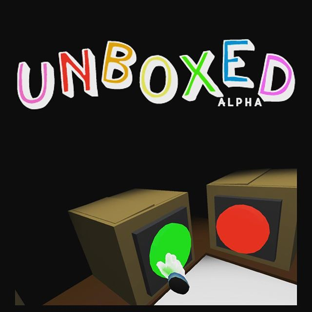 Unboxed is live! Download at trynn.itch.io/unboxed. You can also visit trynn.me for download access 👏👏👏. #unboxed #unboxedgame #htcvive #vr #virtualreality #play #indiegame #indie #games #gamedesign