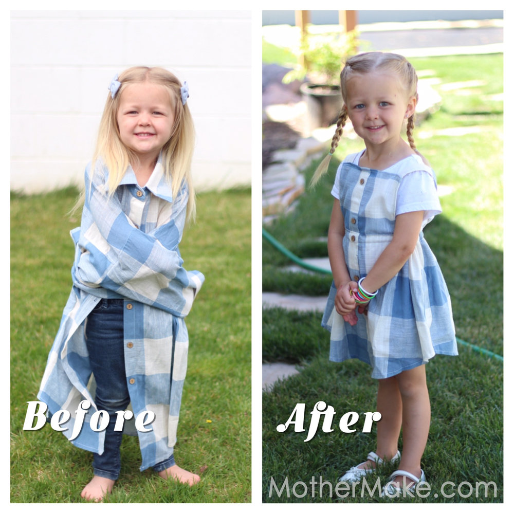 Before and After Girls Pinafore Dress