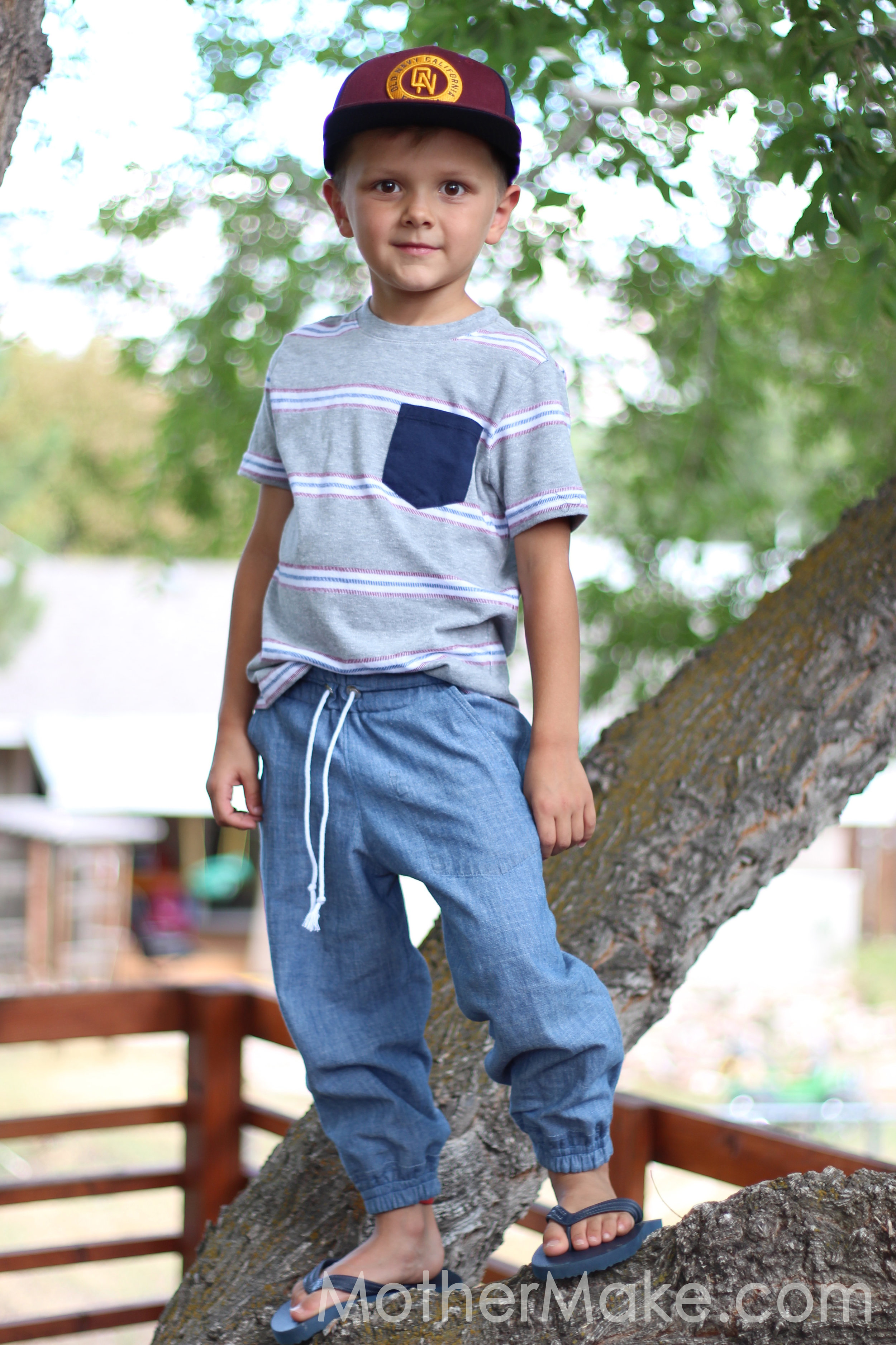22f6414d DIY Boys Joggers from Dad's Shirt — Mother Make