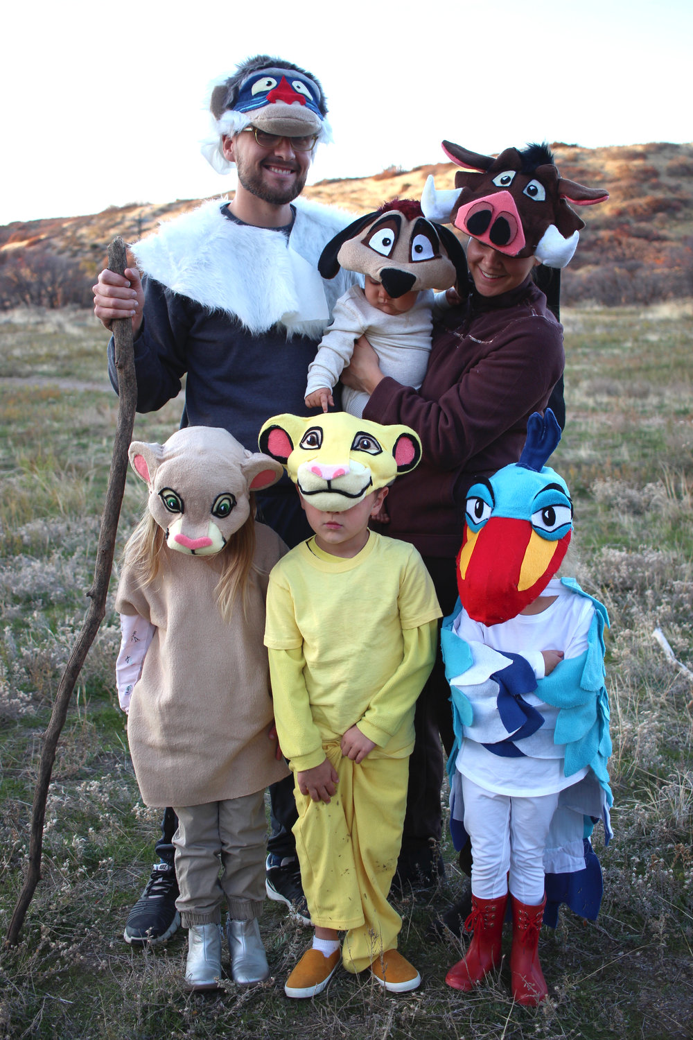 Family Themed Lion King Halloween Costume