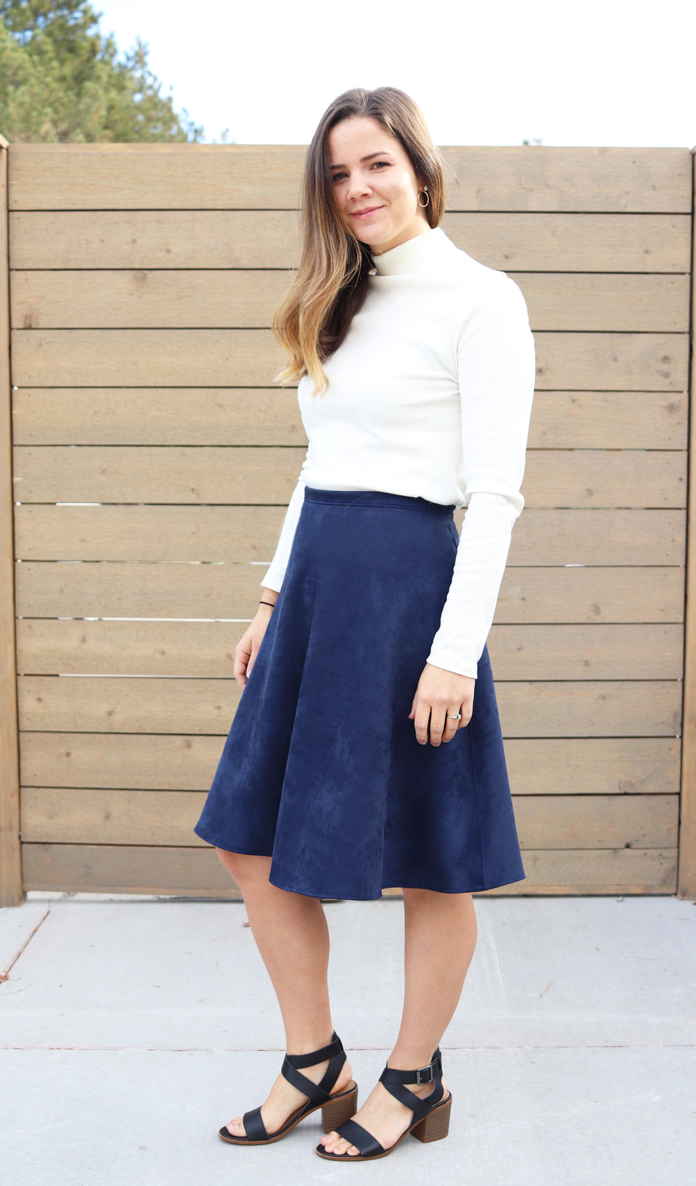 Fit & Flare Suede Skirt by Mother Make
