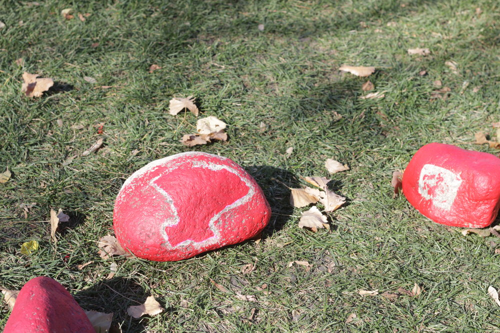 A youth group honoured our missing and murdered women by painting rocks red at The Forks a few weeks ago.