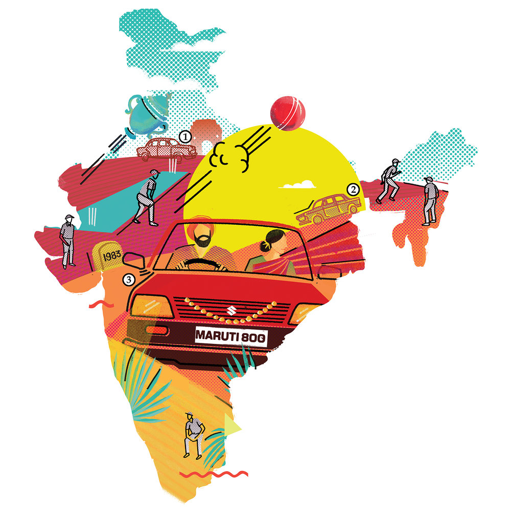"""1983 : """"Maruti 800 is launched : Driving the India story."""" ~ Rutuja Patil"""