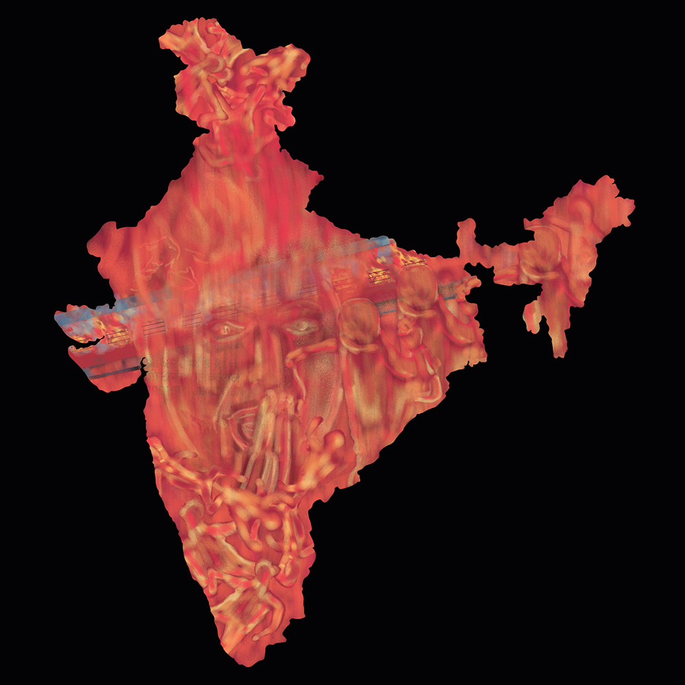 """2002 : """"Godhra Massacre :The starting point for the barbarism and massacre of Muslims that followed in India.Thousands of hindu pilgrims had gone from Gujarat to Ayodhya to take part in a religious ceremony at the disputed Babri Masjid.  On 25 February 2002, hindu pilgrims boarded the Sabarmati Express which was bound for Ahmedabad. On 27 February 2002, the train made its scheduled stop at Godhra Station. The train was attacked by a mob of around 2,000 people. After some stone-pelting, four coaches of the train were set alight, trapping many people inside. 59 people including 27 women and 10 children were burnt to death. Miscreants had kept the petrol-soaked rags ready for use. The sky was covered with smoke coming out from all the burning. This triggered deadly communal riots between Hindu and Muslim spreading across the state. The weeks of violence that followed left over 1000 people dead, most of them Muslim. Qutubuddin Ansari, a tailor, the face shown in centre with hands begged for mercy and eyes filled with tears pleading with security forces as an angry mob approached was photographed by a journalist during riots. He became the face and symbol of the carnage. Gujarat was burnt into the fire. Today, wounds are healed but the scars remain.""""~ Umang Dehdia"""
