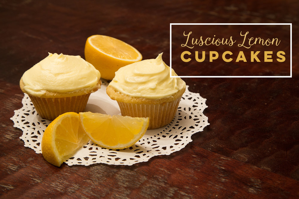 Luscious Lemon Cupcakes - These luscious, tangy lemon cupcakes are the perfect springtime dessert! Click the photo for recipe.