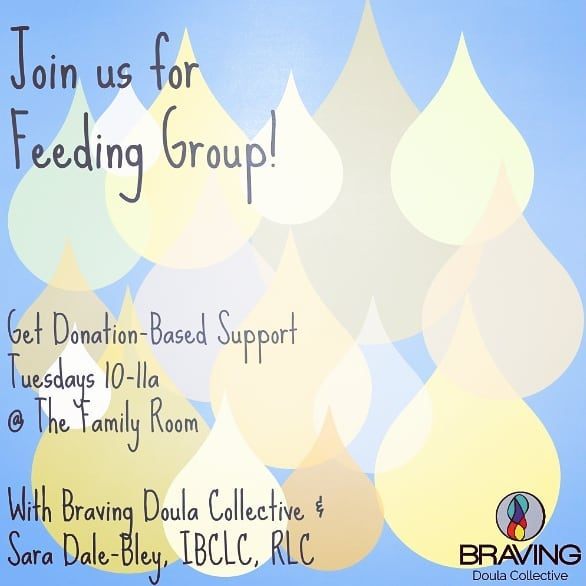 Feeding group is tomorrow!  10am.  #bravingfeeding #bravingdoulas #bravingpostpartum