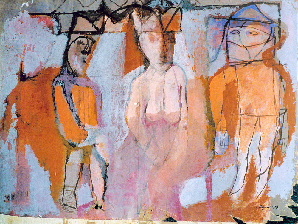The Queen, 1993, gouache on paper mounted on canvas, 40 x 54 inches