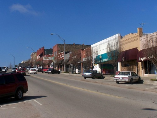 Drumright - Historic oil boomtown.Population: 2,880