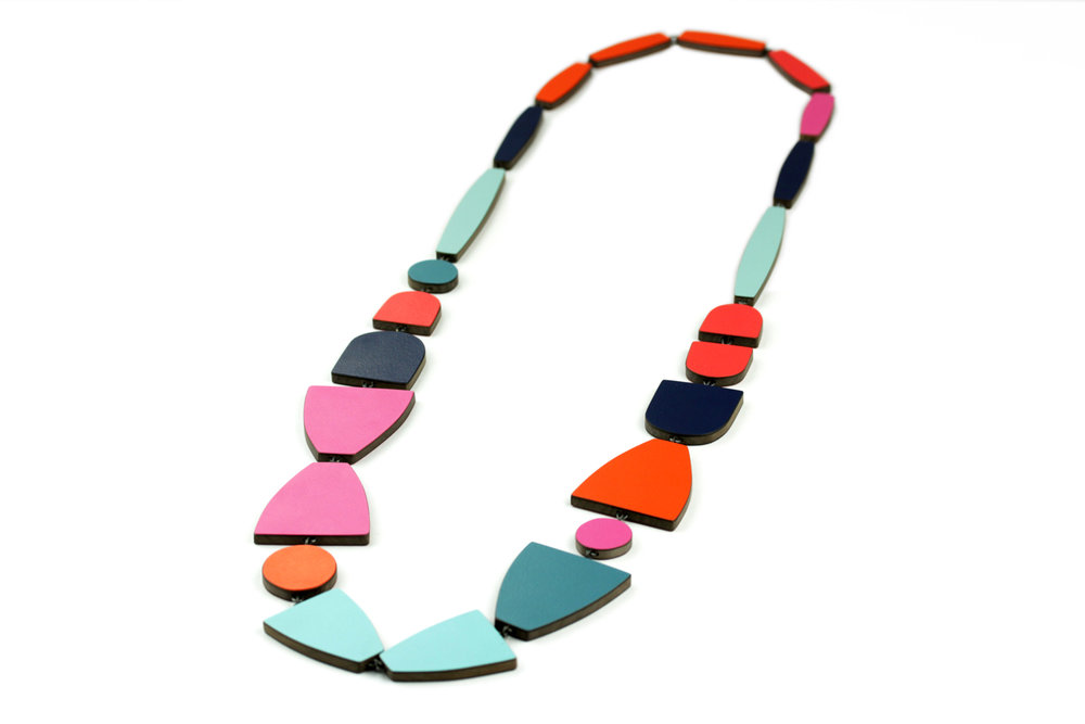 Multicoloured chain necklace, 2017